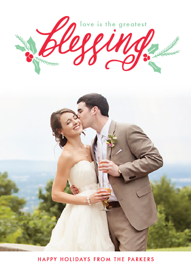 holiday photo cards - The Greatest Blessing by Heather Cairl