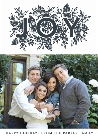holiday photo cards - Floral Joy by Katharine Watson