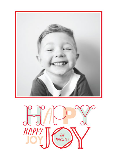 holiday photo cards - Happy Joy by Baumbirdy