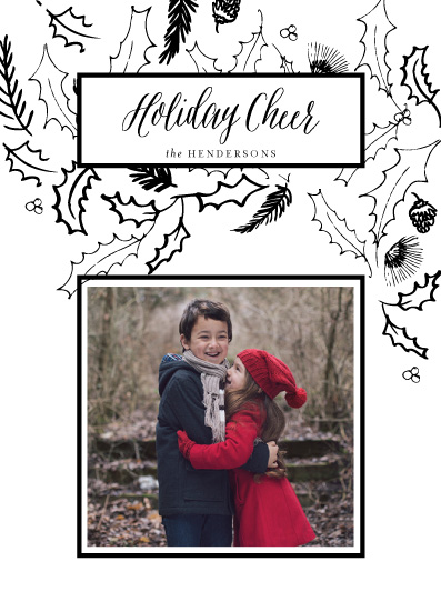 holiday photo cards - Holiday Holly by Baumbirdy