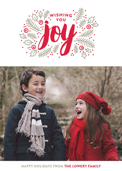 holiday photo cards - Winter Joy by Maddy Hague