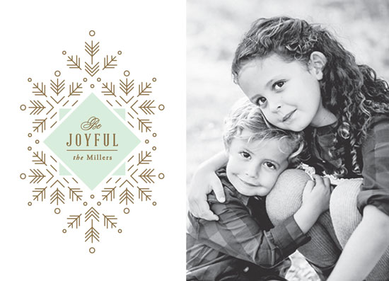 holiday photo cards - Simple Snowfall by Jennifer Postorino