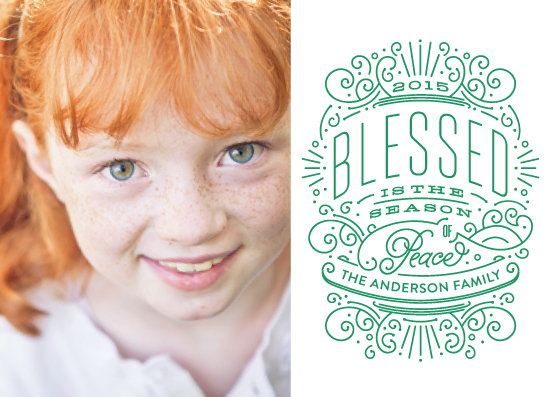 holiday photo cards - Blessed with Peace by Phrosne Ras