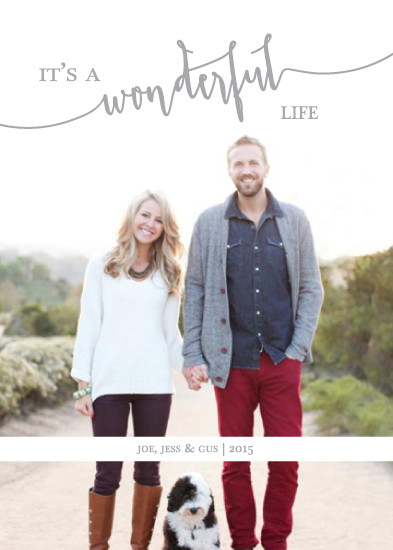 holiday photo cards - Wonderful Life by Christy Allison Design