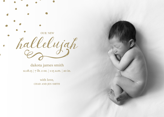 holiday photo cards - New Hallelujah by Christy Allison Design