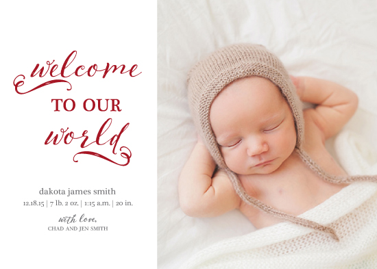 holiday photo cards - Welcome to our World by Christy Allison Design
