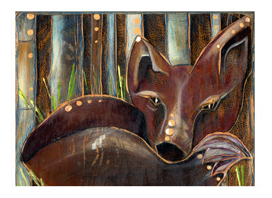 art prints - Faux Fox by Amy Wicherski