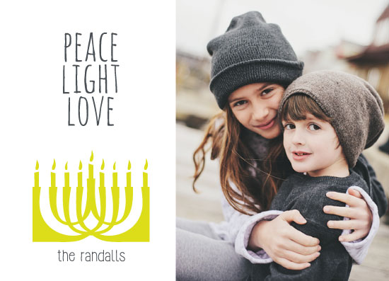 holiday photo cards - Bright Menorah by Julie Darrell