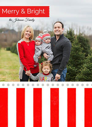 holiday photo cards - Merry & Bright washi tape by Leslie Chalfont