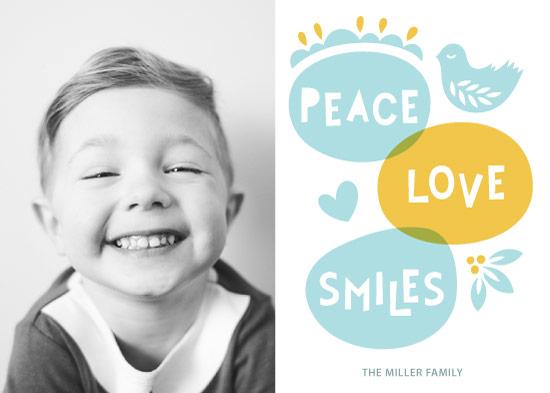 holiday photo cards - Peace Love Smiles by Ekaterina Romanova