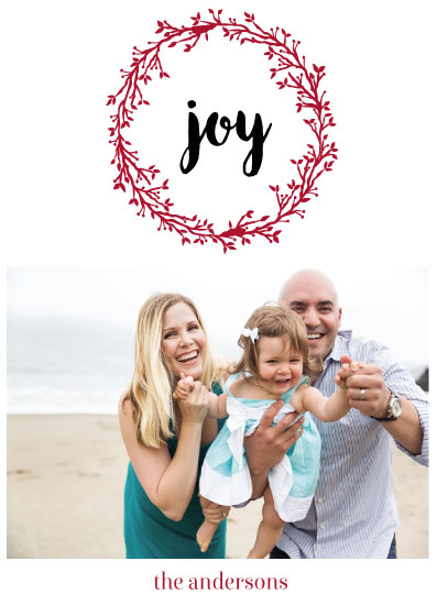 holiday photo cards - letterpressed joy by Neeta Sawhney