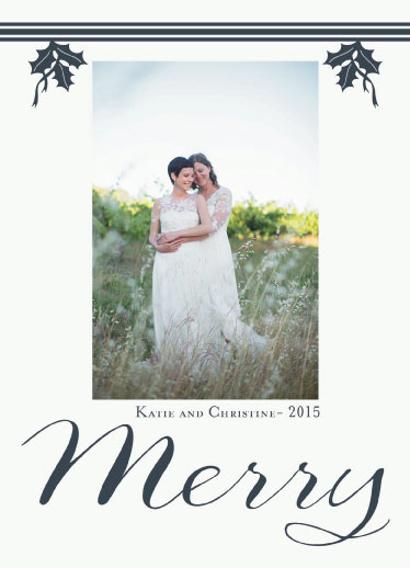 holiday photo cards - A Merry Greeting by Cindy Jost