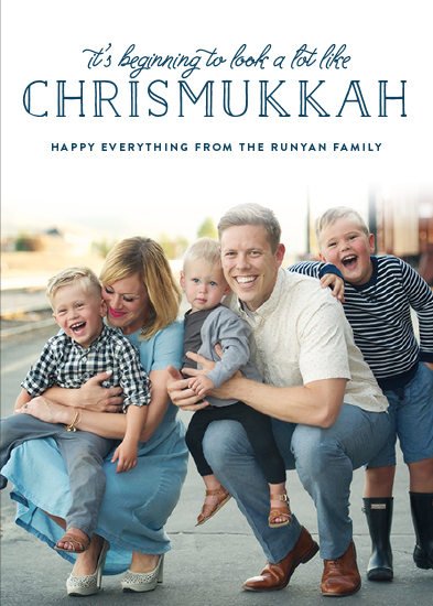 holiday photo cards - Chrismukkah by Shari Margolin
