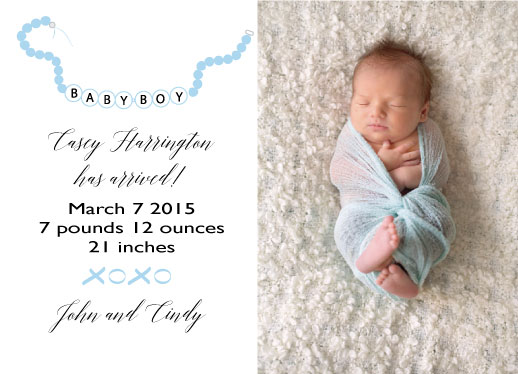 holiday photo cards - BABY BOY by Nancy Jeanne Morlino