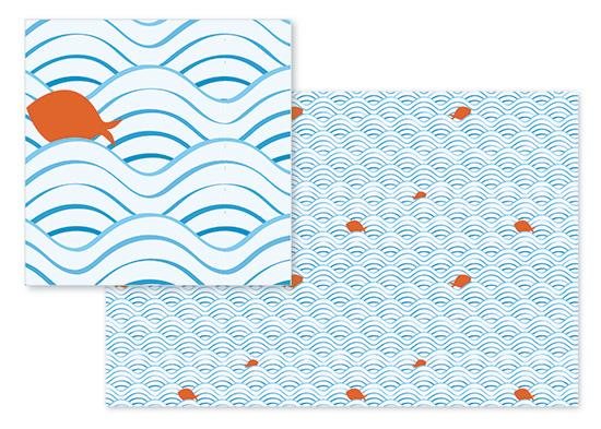 fabric - goldfish swimming - orange by Neeti Kapadia