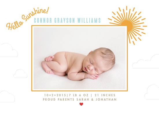 holiday photo cards - Hello Sunshine by Ling Wang