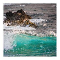 Blue Green Wave Crashing