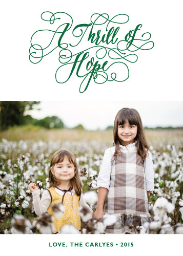 holiday photo cards - A Thrill of Hope by hatley