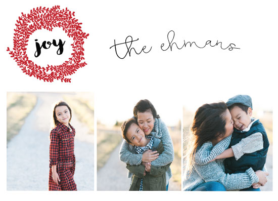 holiday photo cards - joyous moments by Neeta Sawhney