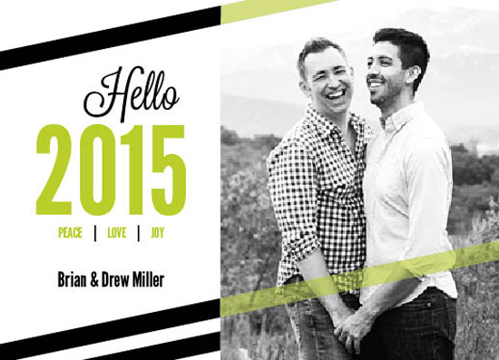 holiday photo cards - Hello At Last by Paula Riley