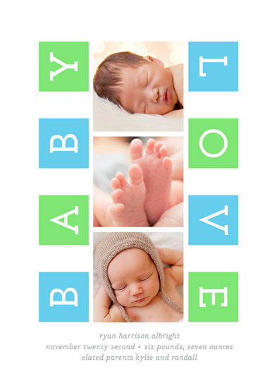 holiday photo cards - neon baby love by Carol Fazio
