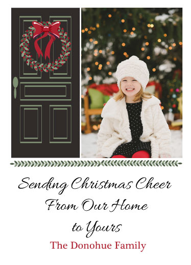 holiday photo cards - Merry Christmas from Our Home to Yours by Nancy Jeanne Morlino
