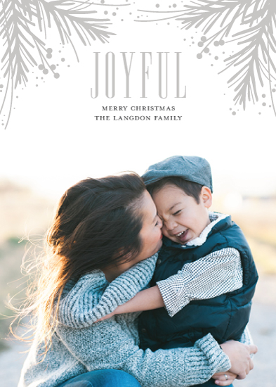 holiday photo cards - Pressed Pine by Jessica Williams