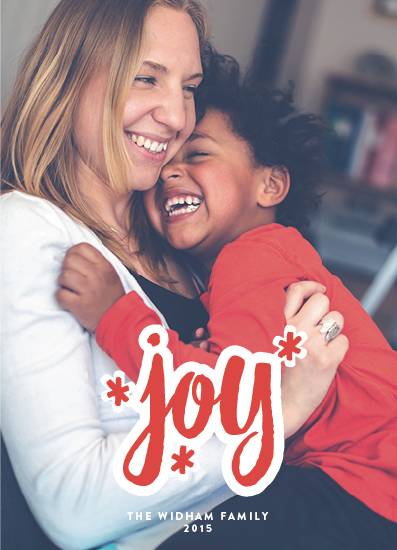 holiday photo cards - Much Joy by Paper Dahlia