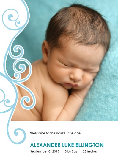 holiday photo cards - Welcome, little one by Karen P.
