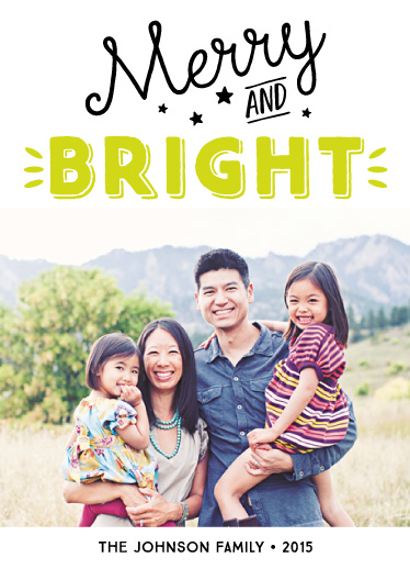 holiday photo cards - Neon Merry and Bright by Alyssa Thom