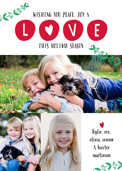 holiday photo cards - Chunky LOVE by Carol Fazio