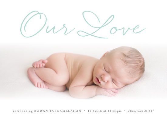 holiday photo cards - Our Love by Olivia Raufman
