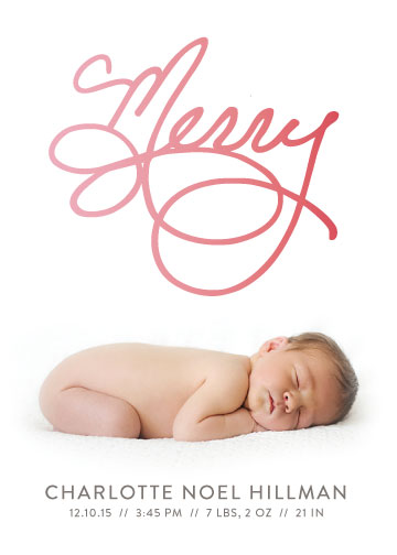 holiday photo cards - Scripted Merry (Split Fountain) by Melissa Casey