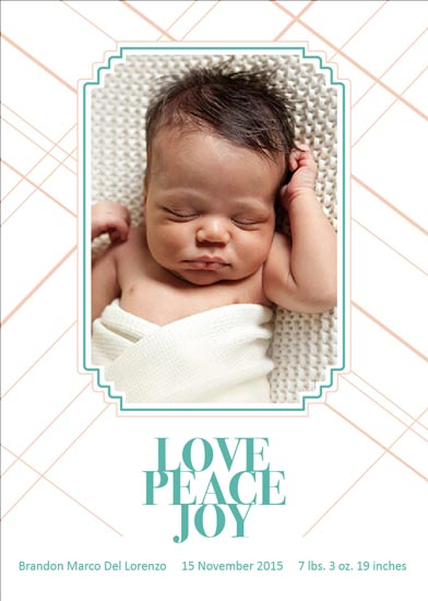 holiday photo cards - Peace Love Joy by Khana Design