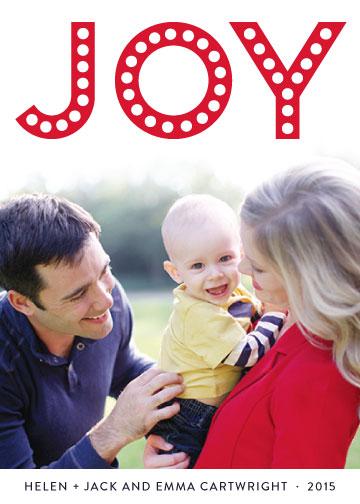 holiday photo cards - Bright JOY by Melissa Casey