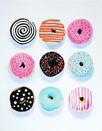 art prints - Pop Donuts by Julia Devine