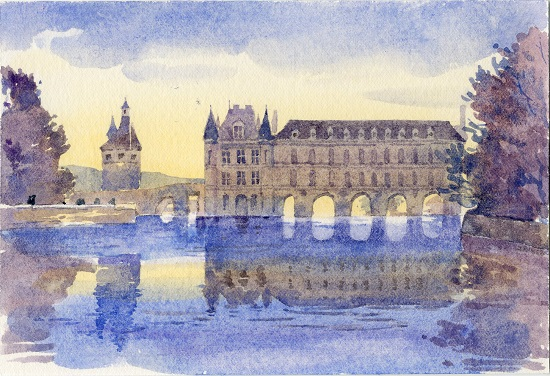 art prints - Reflection - Chateau de Chenonceau by Jarey Lu