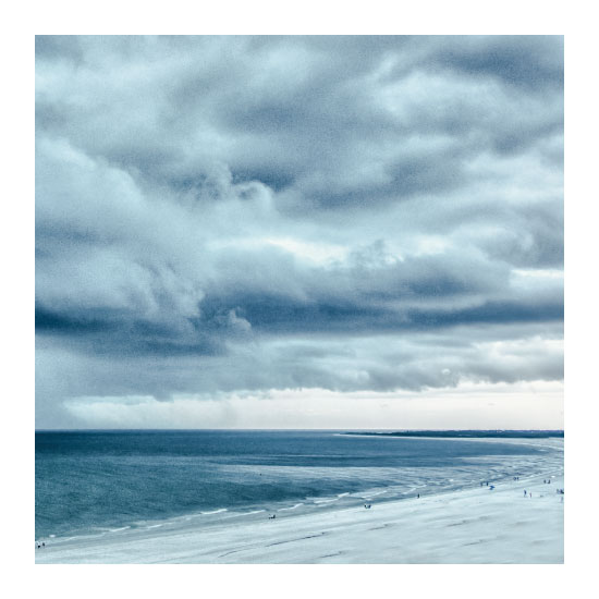 art prints - Blue Beach Storm by Mary Ann Glynn-Tusa
