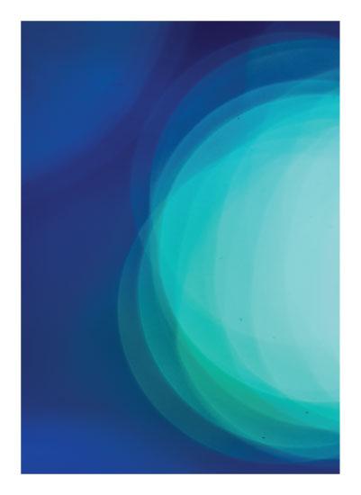 art prints - Blue Bokeh by Smile Peace Love