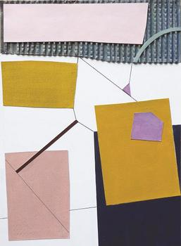 Knicker pink and mustard collage