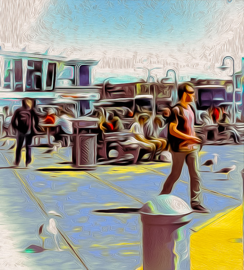 art prints - The Tourist and the Seagull by Lisette Otero-Lewis