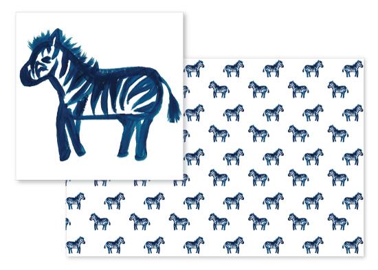 fabric - Lil Zebras by Itsy Belle Studio