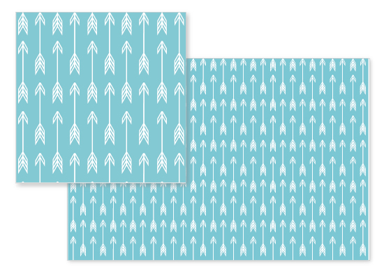 fabric - Blue Arrow by Kate Ross