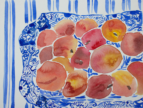 art prints - Virginia Peaches by Gina Langford