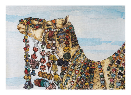 art prints - The Magical Camel by The Lazy Painter
