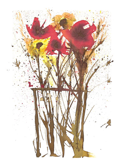 art prints - Floral Splashes by Matilda