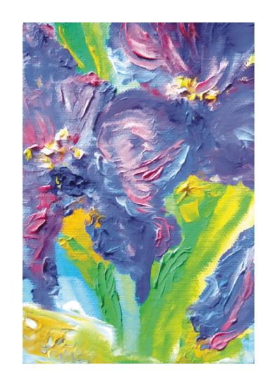 art prints - Irises of Purple by Lisa Muhs