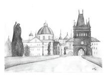 Charles Bridge Prague C... by Heather Chaney UpChurch