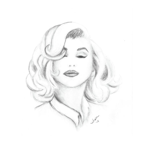 art prints - Marilyn Monroe by Heather Chaney UpChurch