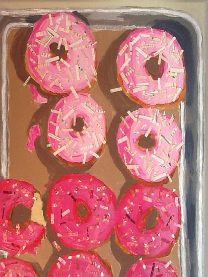 art prints - Pink Doughnuts by Susannah Raine-Haddad